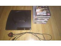 Good condition PS3, No controller + 11 games