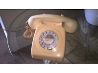 GPO 746 Dial Telephone with new style plug