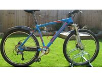 Mountain Bike Project / Bike Spares / Med Frame / 26 in Wheels + Tyres / Fox Forks / XT Crank set
