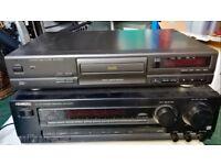 KENWOOD STEREO HIFI RECEIVER + TECHNICS CD DECK PLAYER