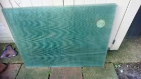 6 SHEETS OF WIRED SAFETY GLASS