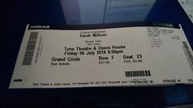 2 Sarah Millican tickets Newcastle 06/07