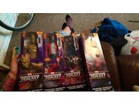Set of 4 guardian of the galaxy figures