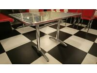 AMERICAN DINER CROME STYLE TABLES