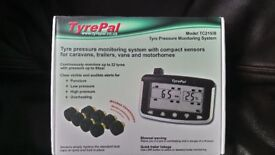 Tyrepal, tyre pressure monitoring system 8 wheel monitor 6 sensors with unit