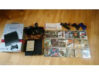 PS3,Playstation 3. 20 x games,Thrustmaster hotas x joystick,Remote, Cables etc.