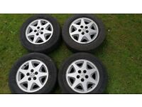 "Ford Granada (?) RS style 15"" Alloy Wheels and tyres. 5x112. Fit VW T25 T3"