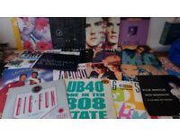 70 x 12 inch vinyl records - singles from 1980 and 1990s.