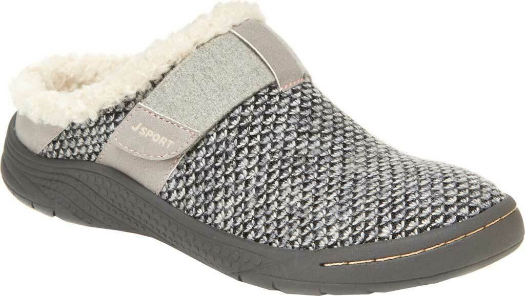 Jambu JSport GRAHAM ENCORE Womens Grey Slip On Vegan Memory