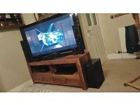 "50"" Panasonic Television & Panasonic Blue Ray DVD with Surround Sound includes Unit"