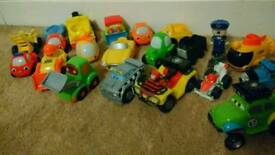 Toddlers CARS Lot Vehicles Thomas Helicopter Age 1.5 to 3 Noisy Lights Tractor