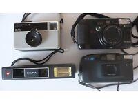 Job Lot Spares / Repair / Theatrical Props - 4 Film Cameras Ricoh, Kodak Instamatic, Halina & Boots