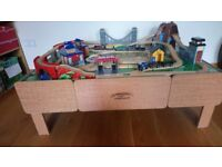 Universe of Imagination train table set, train track and trains bundle
