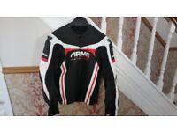 ARMR Leather Motorcycle Jacket Size 44