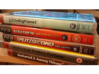 7 PS3 Games (Skyrim, Uncharted 1 & 2, Split Second Velocity, Red Dead Redemption GOTY, LBP, PES '11)