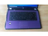 """Warranty fast 15.6"""" laptop HP Purple 2x 2.2GHz fast 256Gb SSD Windows 10 Microsoft Office"""