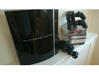 PS3 - 2 Controllers Wireless - Charging Stand - 10 Games