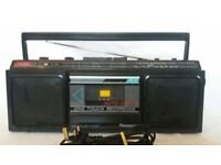 Panasonic Stereo Radio Cassette Recorder RX-4910L Black Music Sound Boom Box