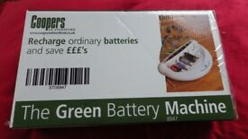 Green Battery Machine (charges many types of domestic batteries) see Box.