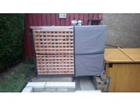 2 storey rabbit / guinea pig hutch and thermal cover for sale