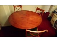 Solid Walnut dining table and chairs Reduced