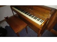 Small Upright Piano - Kemble Minx with music stool.