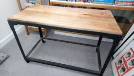 Mango Wood Industrial Side Table / Console Table / Coffee Table / Desk