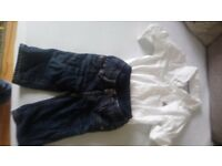 Baby Gap jeans & shirt 0-3 months.