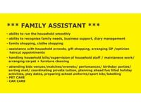 +++ FULL TIME NANNY + PRIVATE HOUSEHOLD ASSISTANT +++