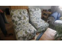 Two butterfly pattern chairs (pair or idividual)