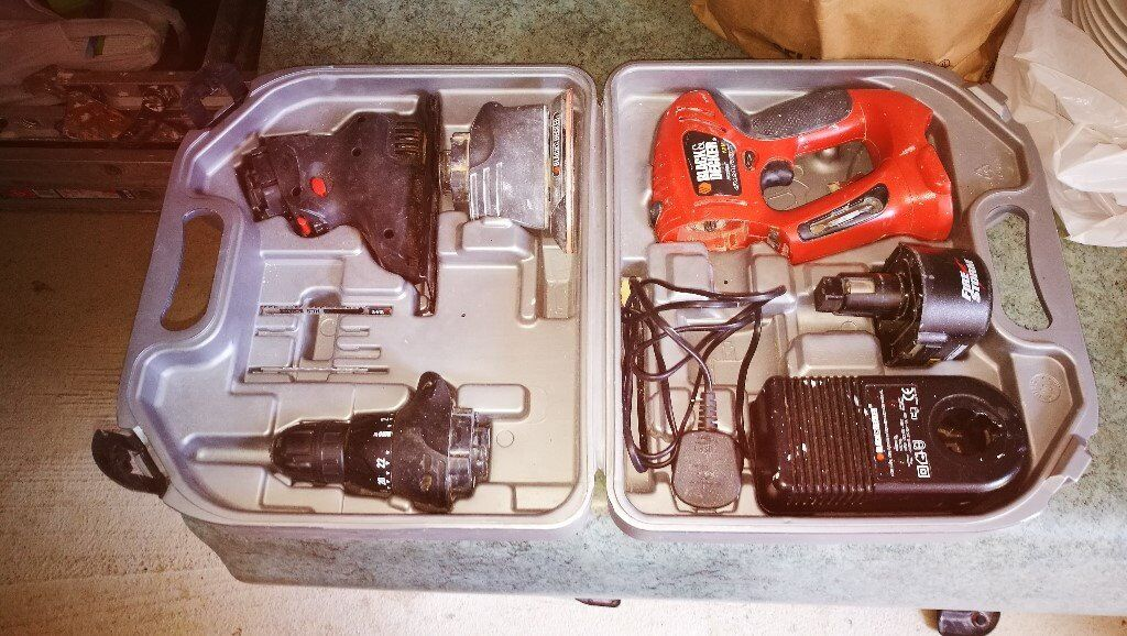 BlackDecker Quatro Drill Kitin Pinner, LondonGumtree - Hi I have for sale for sale Black & Decker kit with the following attachments Drill, Jigsaw Sander and comes with battery charger . Thanks