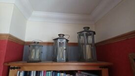 Lanterns set of 3
