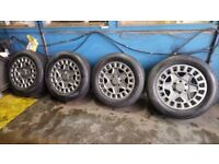 18x8 BLACK RHINO LOAD RATED ALLOY WHEELS & LOAD RATED TYRES-AS NEW-FOR MERCEDES SPRINTER/VW CRAFTER