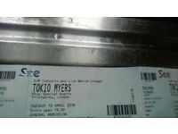 """2 tickets to see TOKIO MYERS on 10/4/17 at """"print works""""in London"""