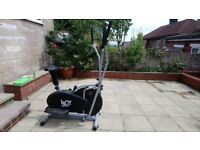 We R Sports 2-in-1 Elliptical Cross Trainer and Exercise Bike - Black