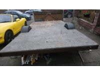 12x6 braked flat bed trailer