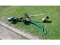 Petrol and electric strimmer