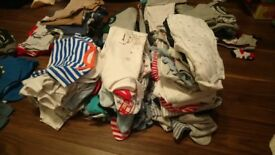 Huge lot of baby boy clothes, 0-3 months, 3-6 months, 6-9 months, shoes, coats, sleep suits etc