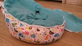 Blue baby beanbag