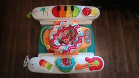 Fisher Price 4 in 1 activity piano, baby play station, used baby gym