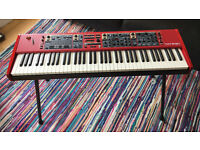 Nord Stage 2 HA76 Synth/Organ/Stage Piano + Nord Case w/ Wheels + Official Nord Keyboard Stand EX
