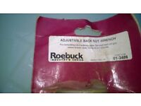 Roebuck back nut wrench / foot print Pad saw