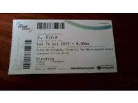 Standing J Cole Tickets for Birmingham on Saturday