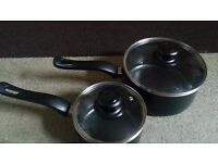 2 Cooking pan set with lid new