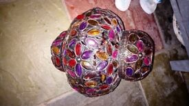 Moroccan style light fitting