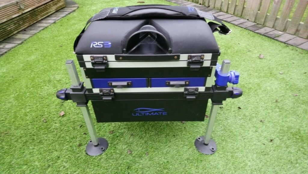 RS3 Ultimate 3 drawer fishing seat box with shoulder strap & keep net arm |  in Forest Town, Nottinghamshire | Gumtree