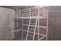 Ikea Svarta loft bed (white)
