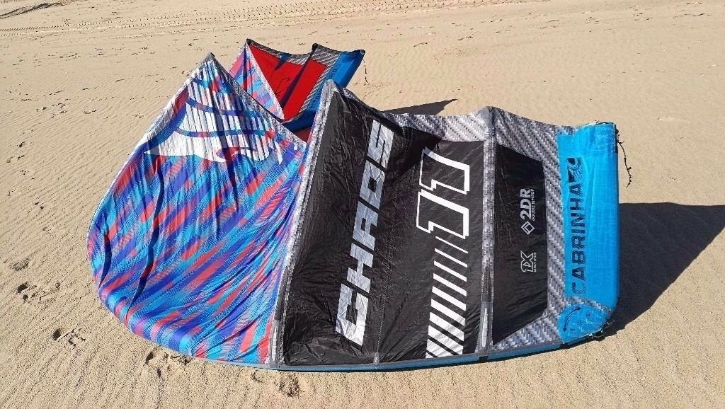 Kitesurfing kitesurf kite Cabrinha Chaos 11m 2016 with bar and lines