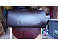 Brown leather double bedhead never used