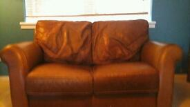 Contempo Quality leather reids sofa , armchair and footstool